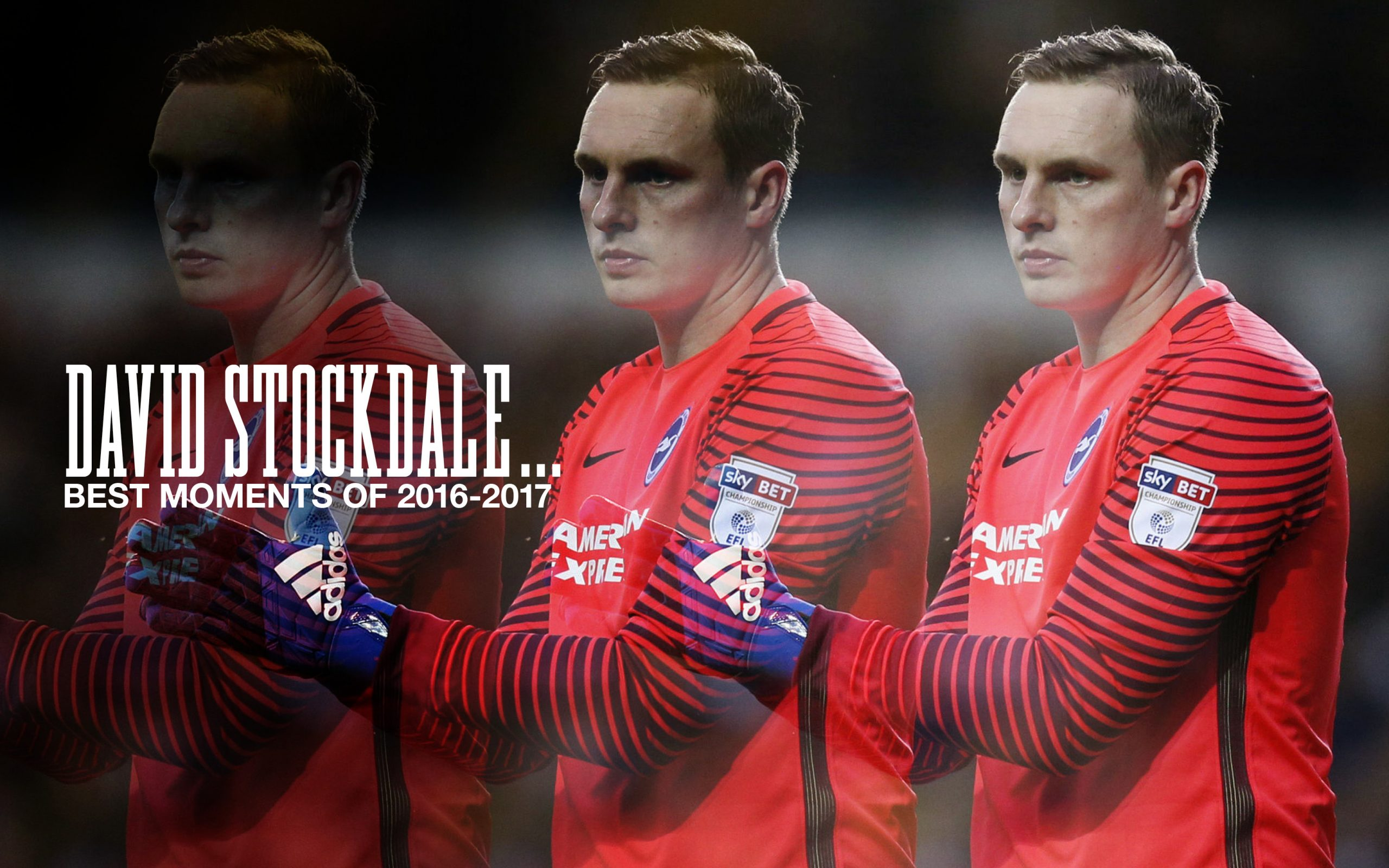 David Stockdale clapping his hands whilst in goal on the football pitch