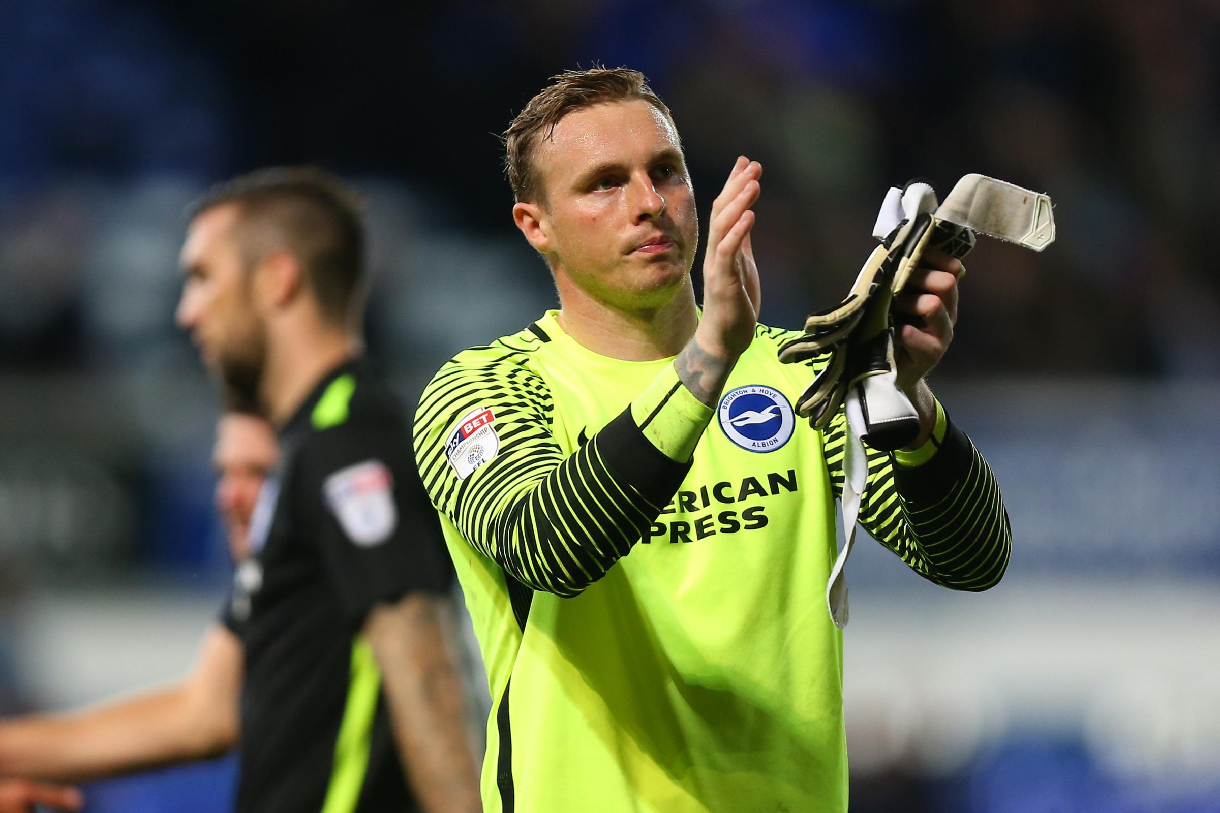David Stockdale clapping his hands after a game